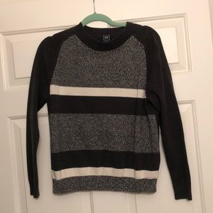 Striped grey and white sweater